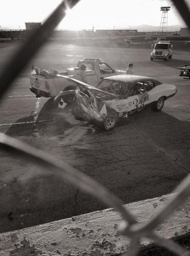 38 Crash BW